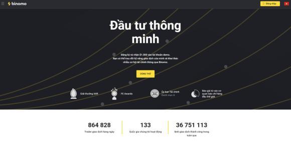 Binomo main page